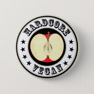 Hardcore Vegan 6 Cm Round Badge