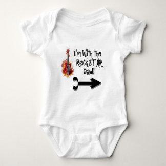 HardCoreGuitarForWebsite, Arrow---Pointing-to-r... Baby Bodysuit