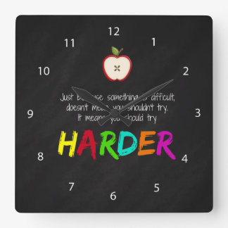 Harder Square Wall Clock