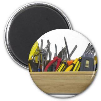 HardHatLongWoodenToolbox091711 6 Cm Round Magnet