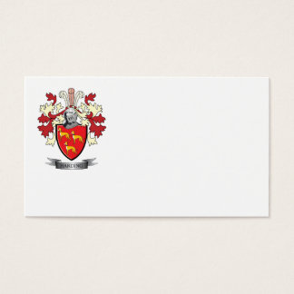 Harding Family Crest Coat of Arms Business Card