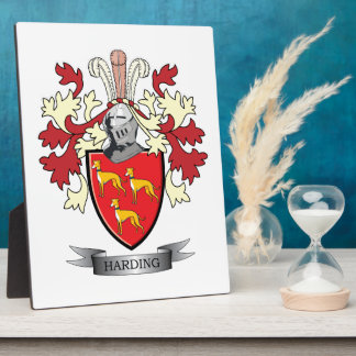 Harding Family Crest Coat of Arms Plaque