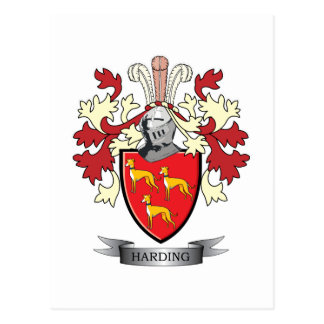 Harding Family Crest Coat of Arms Postcard