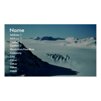 Harding Ice Field Above Skilak Glacier Business Cards