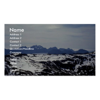 Harding Ice Field - Aerial View Business Card