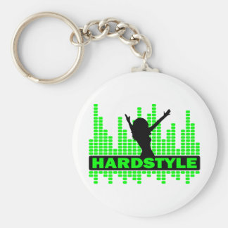 Hardstyle Dancer tempo design Basic Round Button Key Ring