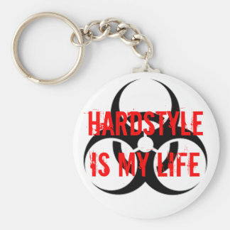 HARDSTYLE is my life Basic Round Button Key Ring
