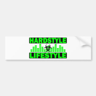Hardstyle Lifestyle hazzard and tempo design Bumper Sticker