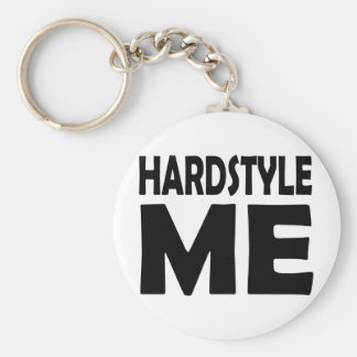 hardstyle me basic round button key ring