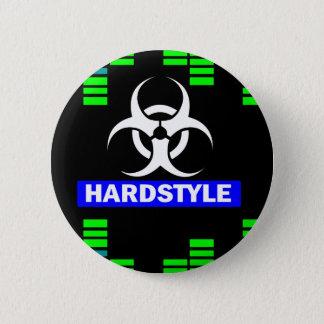 Hardstyle pattern 6 cm round badge