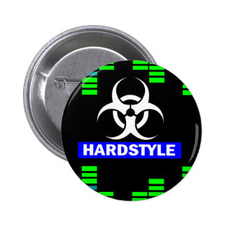 Hardstyle pattern 6 cm round badge