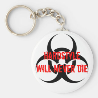 HARDSTYLE Will Never Die Basic Round Button Key Ring