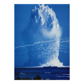 Hardtack Umbrella Underwater Nuclear Test 1958 Poster