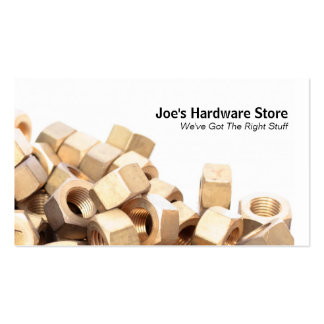 Hardware Store Nuts n Bolts Closeup Business Card