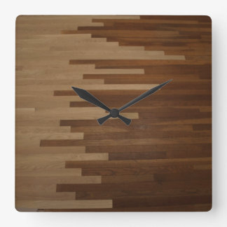Hardwood Floor Wall Clock