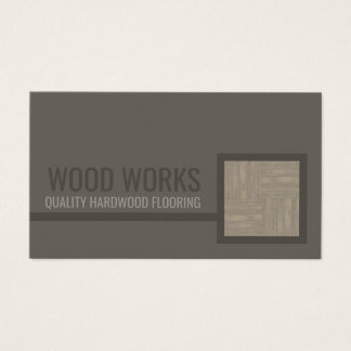 Hardwood Flooring Service Wooden Tile Card
