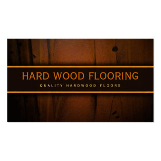 Hardwood Flooring Wooden Floors Wood Business Card