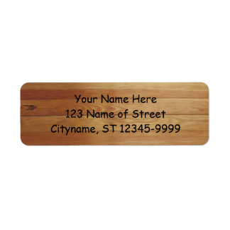 Hardwood Return Address Label