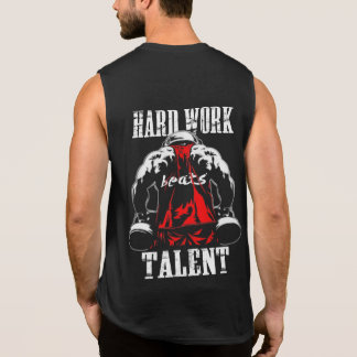Hardwork Beats Talent Gym motivation Tanks