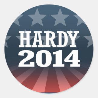 HARDY 2014 ROUND STICKER
