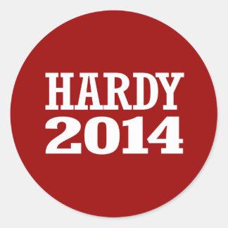 HARDY 2014 ROUND STICKERS