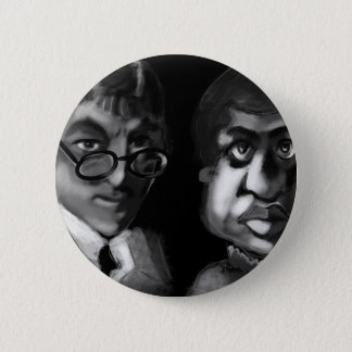 Hardy and Ramanujan Happy Pi Day 6 Cm Round Badge