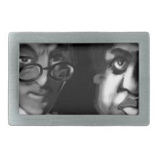 Hardy and Ramanujan Happy Pi Day Rectangular Belt Buckle