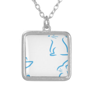 Hare #2 silver plated necklace