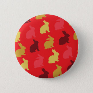 Hare 6 Cm Round Badge
