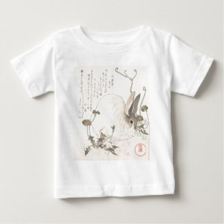 Hare and Dandelion, Kubo Shunman, Japanese Art Baby T-Shirt