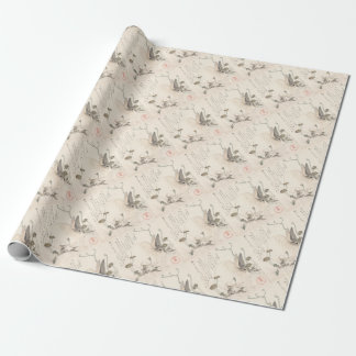 Hare and Dandelion, Kubo Shunman, Japanese Art Wrapping Paper