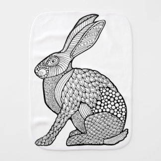 Hare Burp Cloth