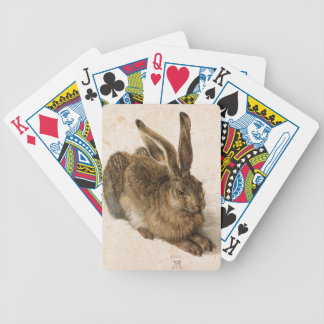 Hare by Albrecht Dürer with Original Signature Bicycle Playing Cards