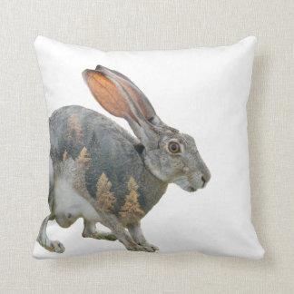 Hare Double Exposure Cushion