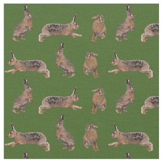 Hare Frenzy Fabric (Green)