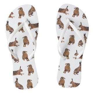 Hare Frenzy Flip Flops (Choose colour)