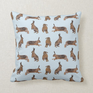 Hare Frenzy Pillow (Light Blue)