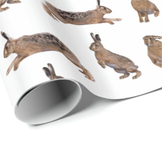 Hare Frenzy Wrapping Paper (Choose Colour)