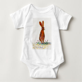 Hare in Poppies Baby Bodysuit