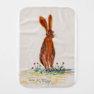 Hare in Poppies Burp Cloth