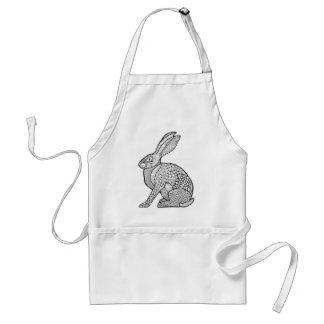 Hare Line Art Design Standard Apron