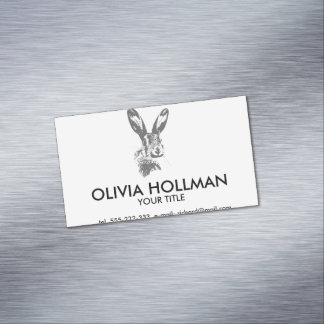 Hare Magnetic Business Card
