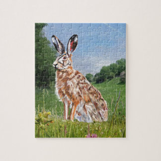 Hare painting jigsaw puzzle