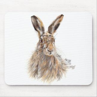 Hare Portrait Mouse Pad
