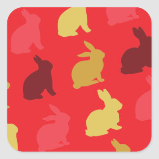 Hare Square Sticker