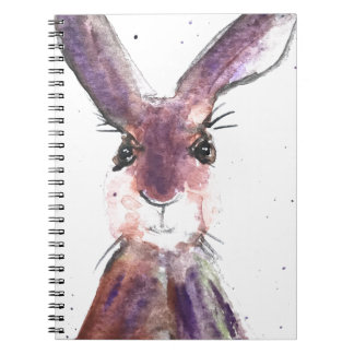 Hare watercolor painting notebooks