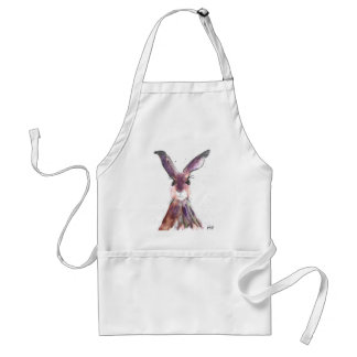 Hare watercolor painting standard apron