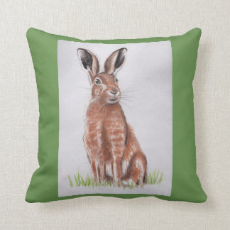 Hare Watercolour Cushion
