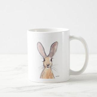 Hare watercolour painting coffee mug
