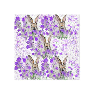 Hares in the Heather Canvas Print